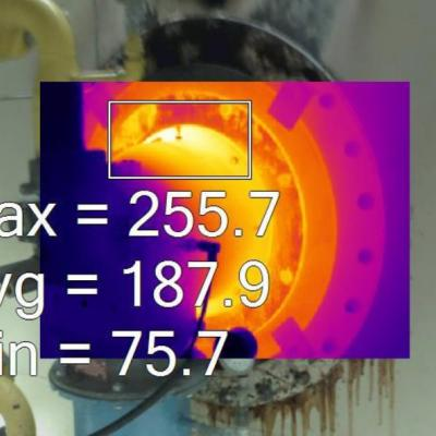 Spot temperature readings with a thermal camera
